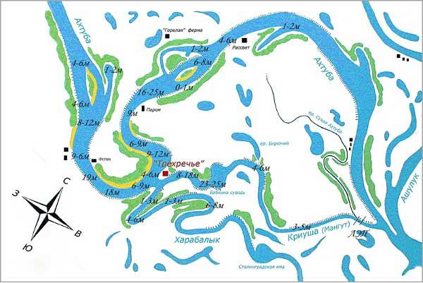 Река имеет проточную и